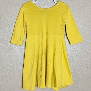 Old Navy toddler girl fit and flare yellow dress